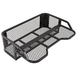 Black Rear Mesh Drop-Down ATV Rack Basket