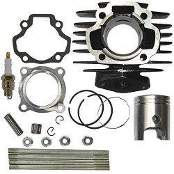 Cylinder FITS YAMAHA PW 50 PW50 QT 50 QT50 Piston Ring Gasket Top End Set Kit NEW