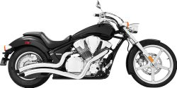 Freedom Performance Sharp Curve Radius Exhaust System – Chrome , Color: Chrome MH00007