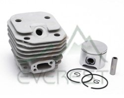 NEW CYLINDER HEAD PISTON KIT FOR HUSQVARNA 61 48mm