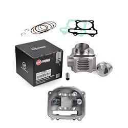 Nibbi 58.5mm Cylinder Kit 57.6mm Cylinder Head Big Bore Stainless Piston For Scooter GY6 152QMI 157QMJ (Cylinder Body x Head)