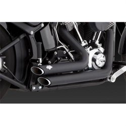 Vance & Hines Shortshots Staggered Exhaust System – Black , Color: Black 47225