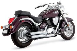 Vance & Hines Twin Slash Staggered Exhaust System – Chrome , Color: Chrome 18397