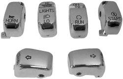Bikers Choice Handlebar Switch Caps – Chrome 370850