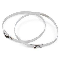 DEI 010201 8″ Stainless Steel Locking Ties – Pack of 8