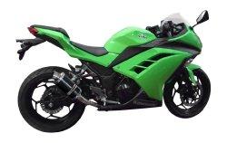 Delkevic US KIT0382 Kawasaki Ninja 300 9″ Oval Carbon Muffler