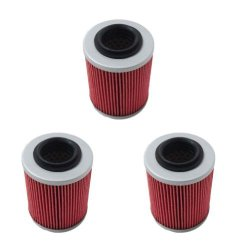 New Pack of 3 Oil Filter fit for CAN-AM COMMANDER BOMBARDIER OUTLANDER MAX 330 400 650 800 500 1000 DS650 DS650X BAJA Replace HF152 & KN152