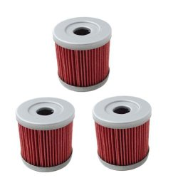 New Pack of 3 Oil Filter fit for Suzuki DRZ400E DRZ400S DRZ400SM 2000-2013 Replace HF139 & KN139