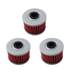 New Pack of 3 Oil Filter for Honda TRX350 TRX400 EX CB400 ATC250ES TRX500 Rancher Foreman Replace HF113 & KN113