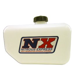 Nitrous Express 15050 2.5 gallon Reservoir with Fittings and Brackets for Water-Methanol Injection System