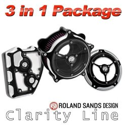 Roland Sands Design Clarity Air Cleaner with Derby and Cam Cover – Contrast Cut For Harley Davidson 2008-to Present FLHT/FLHX/FLTR Throttle By Wire Models