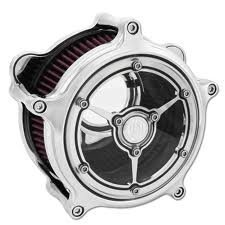 Roland Sands Design Clarity Chrome Air Cleaner for Harley Davidson 1993-2015 Tw – One Size