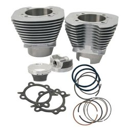 S&S Cycle 97in. Big Bore Kit for 88in. Motors – Silver Powder-Coat 910-0201