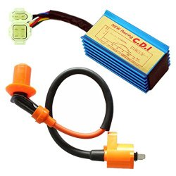 High Performance Racing Ignition Coil + CDI AC GY6 50cc – 110cc 125cc 150cc 4-stroke Engines Scooter ATV Go Kart Moped Quad Pit Dirt Bike