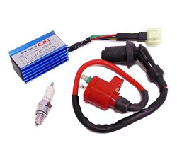 Ignition Kit Racing: Racing Ignition Coil (Taiwanese) + NGK Spark Plug C7HSA + Performance CDI GY6 50cc 125cc 150cc