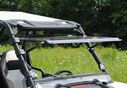 SuperATV FWS-P-RZR-002-70 Polaris RZR Scratch Resistant Flip Windshield