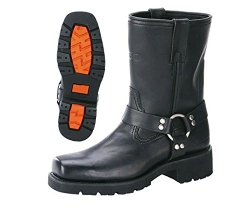 Xelement 1436 Mens Motorcycle Short Harness Boot with Lug Sole – 12