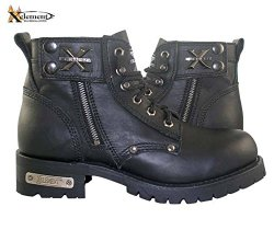 Xelement Advanced Mens Lace Up Black Motorcycle Boots – 13