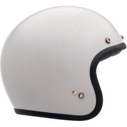 Bell Solid Custom 500 Cruiser Motorcycle Helmet – Vintage White / X-Small