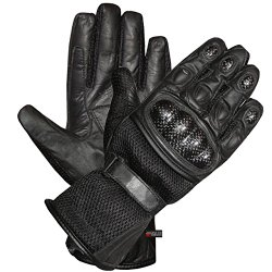 CARBON Fiber Motorcycle Mesh & Leather Race Gloves M