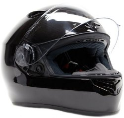 FREE Smoke Shield w/ Purchase!! Snell M2015 DOT Approved Full Face Helmet ( Large – Black )