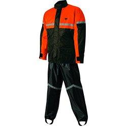 Nelson-Rigg Stormrider Rain Suit (Black/Orange, XX-Large)