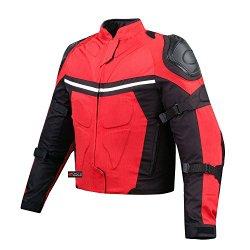 NEW PRO MESH MOTORCYCLE JACKET RAIN WATERPROOF RED S