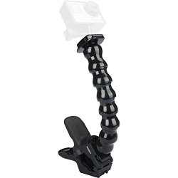 Sabrent Jaws Flex Clamp Mount with Adjustable Neck for GoPro cameras [Compatible with all GoPro cameras] (GP-JWFC)