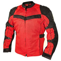 Xelement XS-8161 All Season Mens Black/Red Tri-Tex/Mesh Jacket – 2X-Large
