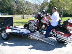 Aluminum Ramp 4 ft. USA – Motorcycles Onto Trailers – 5244MCDR Ramp