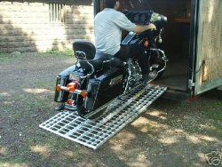 Aluminum Ramp 6 ft. USA – Motorcycles Onto Trailers – 444MCDR Ramp