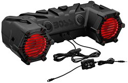 BOSS AUDIO ATV30BRGB Powersports Plug and Play Audio System with Weather Proof 6.5 Inch Component Speakers, Built in 450 Watt Amp and Multi-Color Illumination.