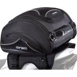Cortech Super 2.0 24-Liter Motorcycle Tail Bag – Black / 13.4″ L x 14.2″ W x 7.5″ D