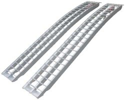 Erickson 07486 Silver 90″ LongAluminum Non-Folding Arched Ramp, 1 Pair