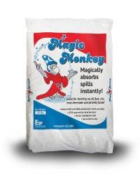 ESP MM225 Magic Monkey Alumina Silicate Universal Granular Absorbent, 6.25 Gallon Water/11.6 Gallon Oil Absorbency, 25 lbs Poly Bag, Off White