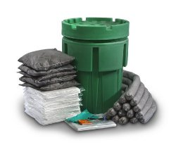 ESP SK-U65 135 Piece Ecofriendly Universal Overpack Absorbent 65 Gallon Spill Kit, 70 Gallon Absorbency, Gray