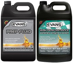 Evans Coolant EC53001-EC41001 High Performance Waterless Coolant and Prep Fluid Combo Pack, 2 gallon
