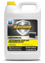 Havoline (227063497-6PK) Universal Prediluted 50/50 Antifreeze/Coolant – 1 Gallon, (Pack of 6)