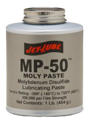 Jet-Lube MP-50 Multi Purpose Non-Melting Moly Paste, 1 lbs Plug Top Can