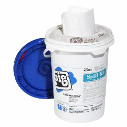 New Pig KIT413 14 Piece Oil-Only Spill Kit in 6-1/2-Gallon Bucket, 4.5 Gallon Absorbency