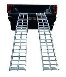 Pit Posse PP2755P Pair Of Motorcycle ATV Folding Loading Ramps Aluminum 89″ 1500lb Rated