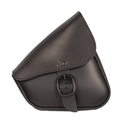 Willie & Max 59906-00 Black Leather Swingarm Bag that fits Harley-Davidson Sportster