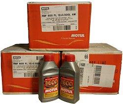 (2) Bottles Motul RBF600 Performance Racing Brake Fluid 500ml Each DOT 4