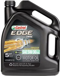 Castrol 03084-3PK EDGE 5W-30 Synthetic Motor Oil – 5 Quart, (Pack of 3)