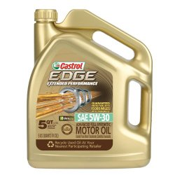 Castrol 03087 EDGE Extended Performance 5W-30 Synthetic Motor Oil – 5 Quart
