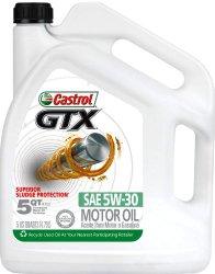Castrol 03096 GTX 5W-30 Conventional Motor Oil – 5 Quart