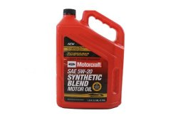 Genuine Ford Fluid XO-5W20-5QSP SAE 5W-20 Premium Synthetic Blend Motor Oil – 5 Quart Jug