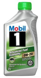 Mobil 1 96995 0W-20 Synthetic Motor Oil – 1 Quart (Pack of 6)