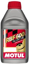 Motul 8068HL-12PK RBF 600 Factory Line Dot-4 100 Percent Synthetic Racing Brake Fluid – 500 ml, (Case Pack of 12)