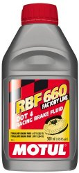 Motul 847205-12PK RBF 660 Factory Line Dot-4 100 Percent Synthetic Racing Brake Fluid – 500 ml, (Case Pack of 12)
